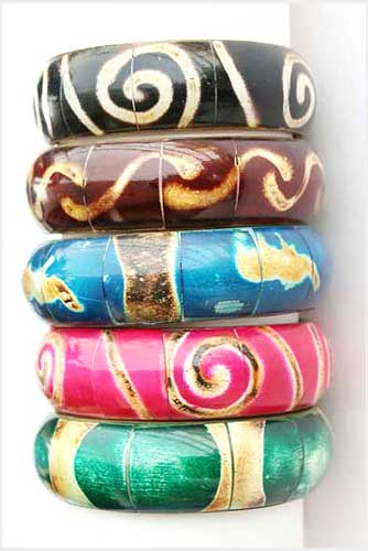Multi-Colored Bone Bangles