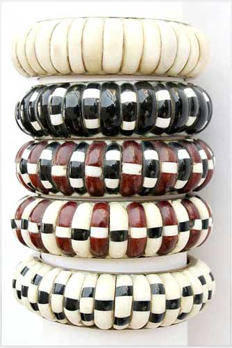 Shaded Bone Bangles