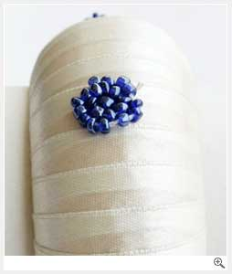 White with beads Fabric Bangles